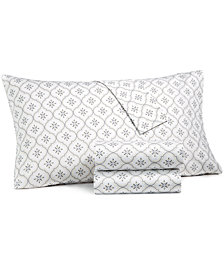 CLOSEOUT! Martha Stewart Collection 4-Pc Printed Sheet Sets, 400 Thread Count 100% Cotton Percale, Created for Macy's