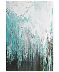 INK+IVY Abstracted Chevron Gel-Coated Canvas Print