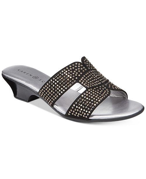Karen Scott Esmayy Slide-On Sandals, Created for Macy's