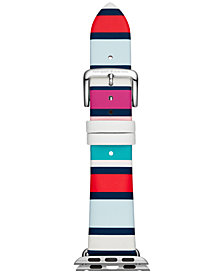 kate spade new york Striped Leather Apple Watch® Strap 38mm