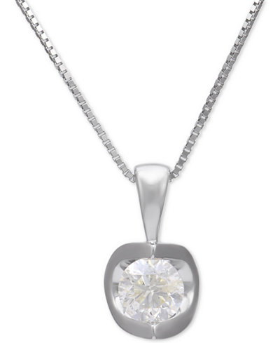 Diamond pendant necklace 38 ct tw in 14k white gold diamond pendant necklace 38 ct tw in 14k white gold aloadofball Choice Image