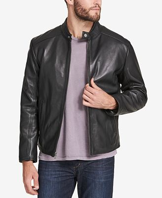 Marc New York Men's Leather Moto Jacket, Created for Macy's ...