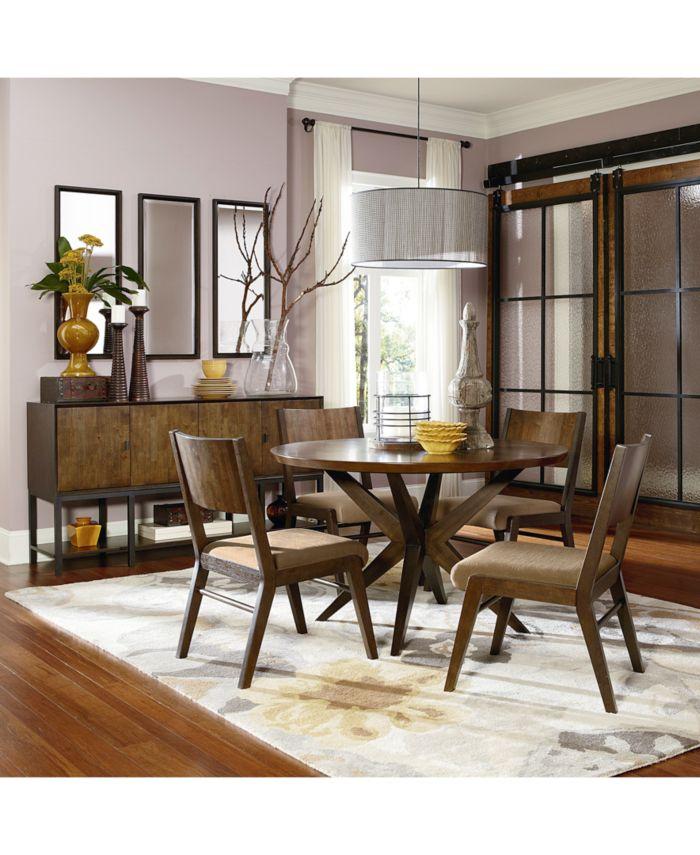 Furniture Ashton Round Pedestal Dining Furniture, 7-Pc. Set (Round Pedestal Dining Table & 6 Side Chairs) & Reviews - Furniture - Macy's