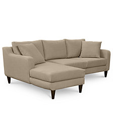 CLOSEOUT! Nario 2-Pc. Sectional with Chaise, Created for Macy's