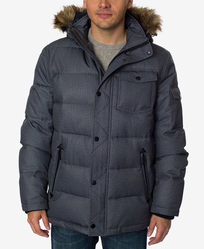 Nautica Men's Quilted Hooded Parka - Coats & Jackets - Men - Macy's