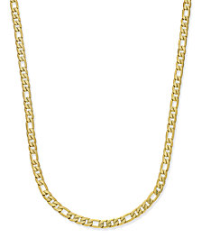 Sutton by Rhona Sutton Men's Gold-Tone Figaro Chain Necklace