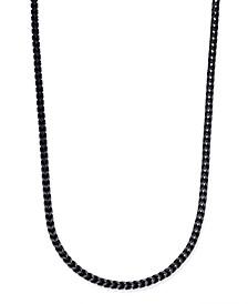 Men's Black-Tone Chain Necklace