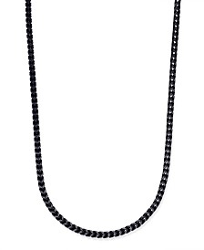 Sutton by Rhona Sutton Men's Black-Tone Chain Necklace