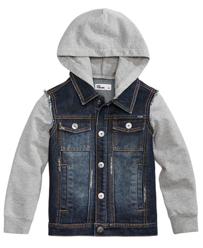Epic Threads Hooded Denim Jacket, Little Boys (4-7), Created for ...