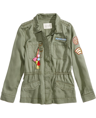 Jessica Simpson Emilia Utility Jacket, Big Girls - Coats & Jackets ...