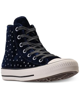 Converse Women's Chuck Taylor Hi Velvet Stud Casual Sneakers from Finish Line