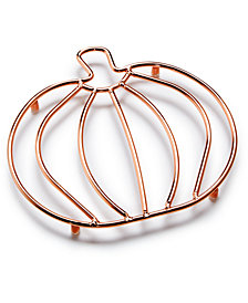 Martha Stewart Collection Copper Wire Pumpkin Trivet, Created for Macy's