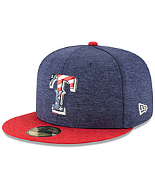 New Era Boys' Texas Rangers Stars & Stripes 59FIFTY Cap
