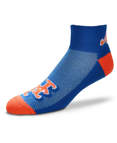 For Bare Feet New York Mets The Cuff Ankle Socks