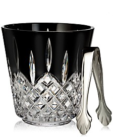 Lismore Black Ice Bucket with Tongs