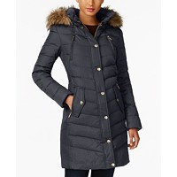 MICHAEL Michael Kors Faux-Fur-Trim Hooded Puffer Coat (Multiple Color)
