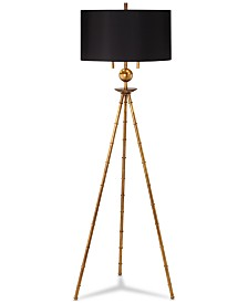 Pacific Coast Bambusa Leaf Tripod Floor Lamp