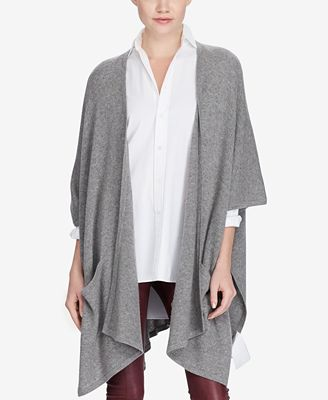 Polo Ralph Lauren Cashmere Wrap Cardigan - Sweaters - Women - Macy's