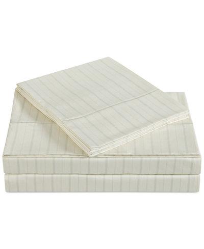 Charisma Classic Cotton Sateen 310 Thread Count Stripe Pair of Standard Pillowcases