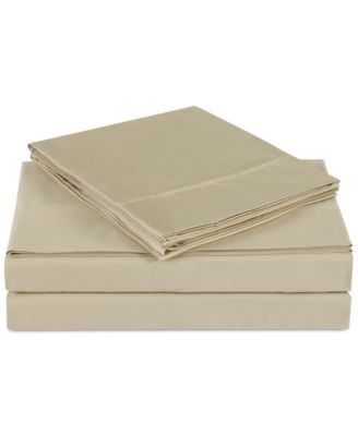 Luxe Cotton Sateen 510 Thread Count Solid Pair of Standard Pillowcases