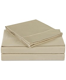 Luxe Cotton Sateen 510 Thread Count Solid Pair of King Pillowcases