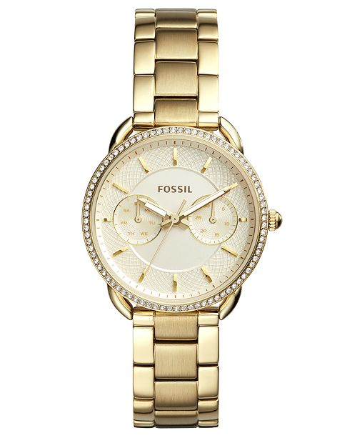 Fossil Women's Tailor Gold-Tone Stainless Steel Bracelet Watch 35mm
