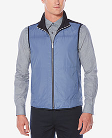 Perry Ellis Men's Mixed-Media Mock-Neck Vest