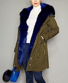 Hooded Fox-Fur-Lined Parka