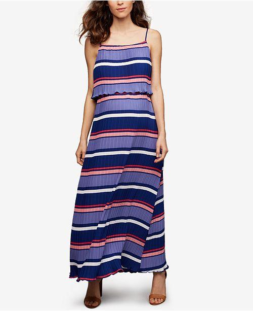 Maternity Striped Maxi Dress