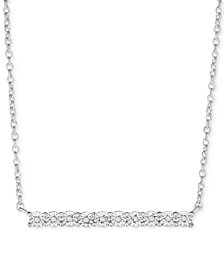 Diamond Bar Pendant Necklace (1/10 ct. t.w.) in Sterling Silver