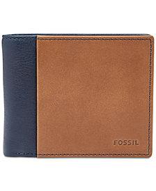 Fossil Men's Ward Bifold ID Leather Wallet