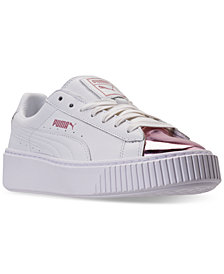 Puma Women's Basket Platform Metallic Casual Sneakers from Finish Line