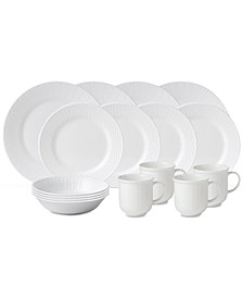 Nantucket Basket 16-Pc. Set, Service for 4