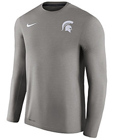 Nike Men's Michigan State Spartans Dri-Fit Touch Longsleeve T-Shirt