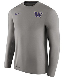 Nike Men's Washington Huskies Dri-Fit Touch Longsleeve T-Shirt