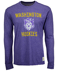Retro Brand Men's Washington Huskies Mock Twist Long Sleeve T-Shirt