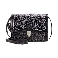 Patricia Nash Tuscan Tooled Collection Lanza Convertible Cross-Body Bag