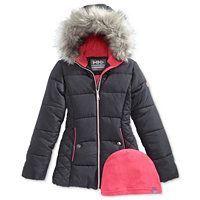 Kids Hawke & Co Hooded Puffer Jackets (Various)