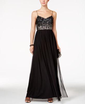Plain Black Evening Dress