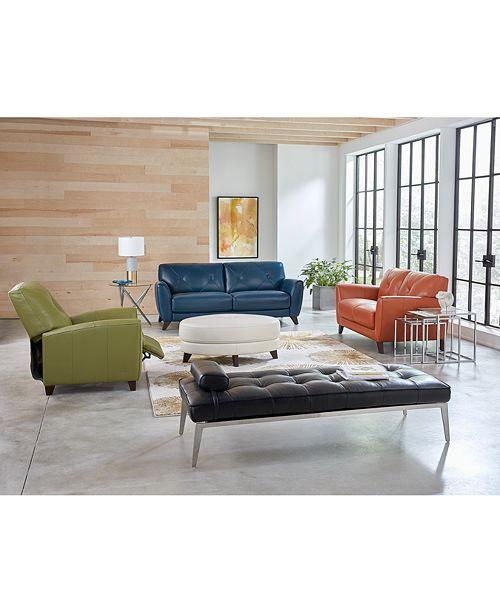 Furniture Myia 82 Leather Sofa