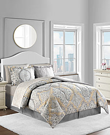CLOSEOUT! Hannah 8-Pc. Reversible Comforter Sets