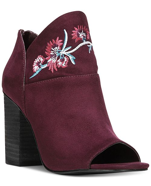 3851938da4dc87 ... Carlos by Carlos Santana Talana Embroidered Peep-Toe Booties ...
