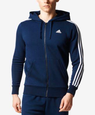 adidas Men\u0027s Essential Fleece Zip Hoodie