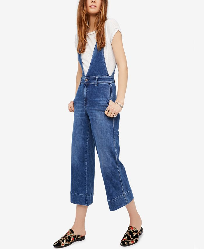 Free People - A-Line Denim Overalls