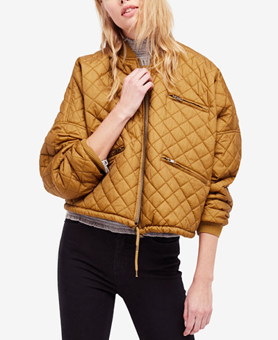 Free People Quilted Bomber Jacket - Free People Quilted Bomber Jacket - Women - Macy's