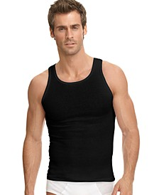 Men's Underwear, Classic Ribbed Tagless Tank 3 Pack