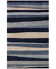 "Dalyn Area Rug, Studio SD313 Coastal Blue 3' 6"" x 5' 6"""