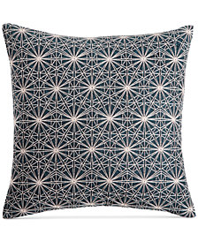 "CLOSEOUT! Hotel Collection Modern Wave 18"" Square Decorative Pillow, Created for Macy's"