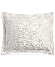Martha Stewart Collection Lush Embroidery Standard Sham, Created for Macy's