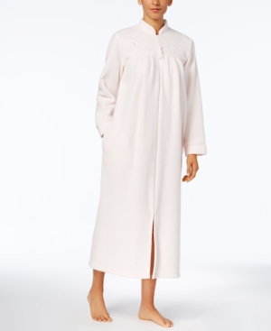a87cb71515 UPC 028266555508 product image for Miss Elaine Brushed-Back Terry Zip-Front Long  Robe ...